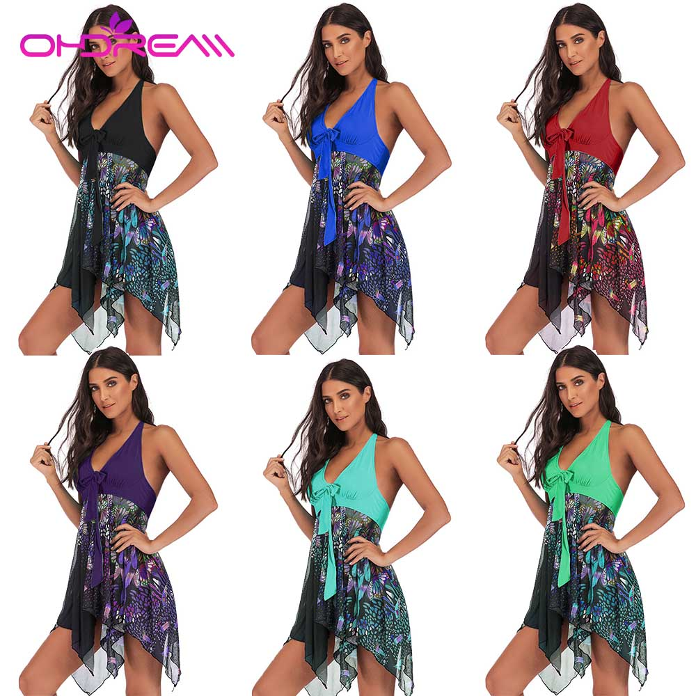 OHDREAM Plus Size Swimwear 5XL Women Two Pieces Swimsuit Skirt With Thong Sexy Tankini Bathing Suit