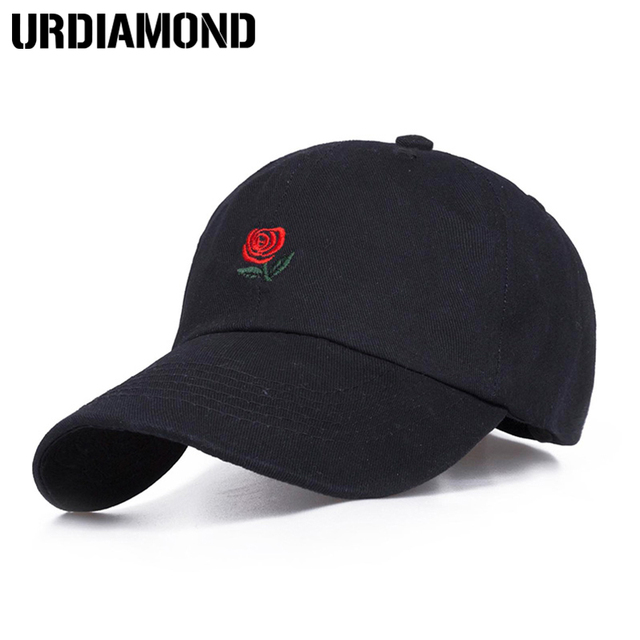 6e266434f69 2018 Fashion Design Baseball Cap For Men Women Rose Snapback Cap Sport Golf  Cap Hip Hop Hat Bone Adjustable Outdoor Hat