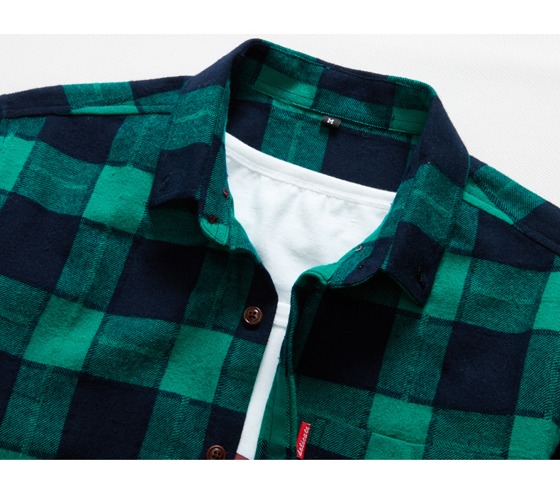 XMY3DWX products sell like hot cakes men long sleeve shirt men grid thin body hair fashion Grinding MAO casual shirt/size S-4XL 57