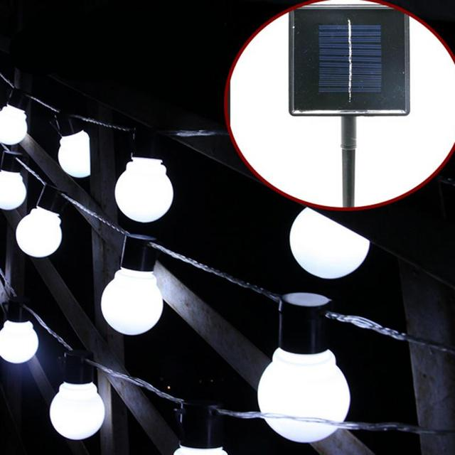 Solar LED String Light Bulb Family Party White / Warm White LED Lamp Beads Auto-sensing Night Creative Home Decor