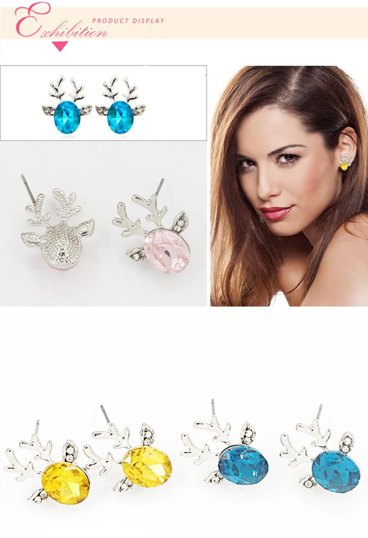 Crystal Antlers Earring