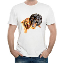 Cute Dog Design Cotton Funny T Shirt Men cotton Printed man T Shirts Custom Tops Tees Fashion cartoon ropa hombre de marca