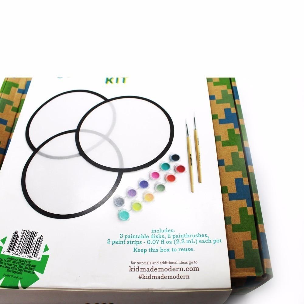 1 stks unieke werk van De circulaire schijf kind eigen art creatie - School en educatieve benodigdheden - Foto 5