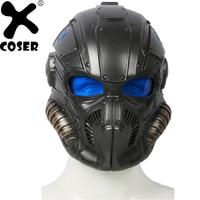 XCOSER бренд Акционная распродажа Высокое качество Полный головной шлем косплей реквизит Мужчины Прохладный черный полный маска шлем для лиц
