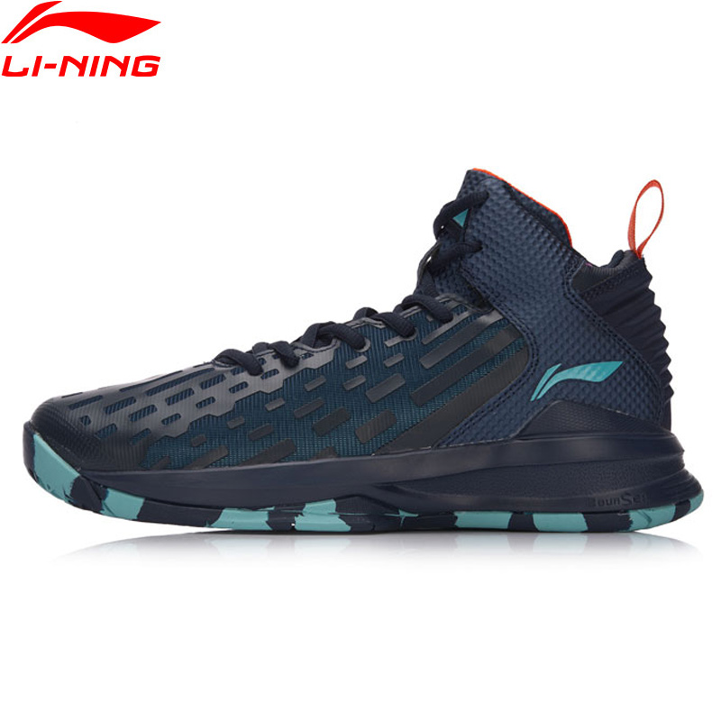 Li-Ning Men DOMINATOR Cushion Basketball Shoes Bounse+ On Court LiNing TPU Support Sports Shoes Sneakers ABPM027 XYL120 li ning original men sonic v turner player edition basketball shoes li ning cloud cushion sneakers tpu sports shoes abam099