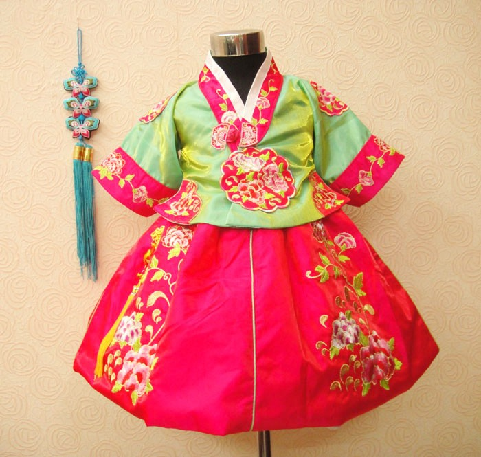 d5441035babc 2017 Baby Girl Korean traditional Costumes Korea Princess Dress -in ...