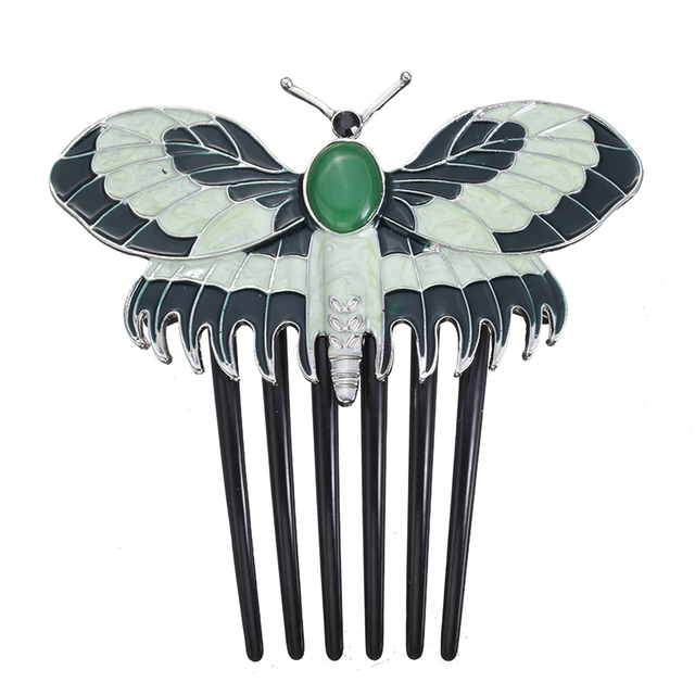 Fashion Movie Charm Titanic Heroine Rose Cosplay Hairpin Butterfly Comb Hair Accessory Prop For Women