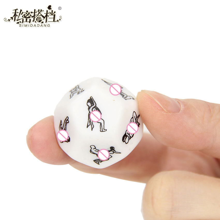 1 PC Humour Gambling Sex Toy For Couple Adult Game Sex Products Sexy Romance Erotic Craps Dice Pipe Flirting Toys 2.5cm