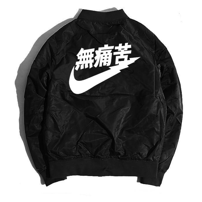2018 NEW Ma1 Bomber Jacket No Pain Mens Clothes High Street Winter Jacket Coat Windbreakers Military Style Coat Thickening