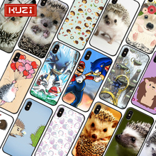 KUZI Hedgehog Pattern Luxury Phone Case for IPhone 6 S 6S 7 8 Plus Fundas TPU Cover X XS XR