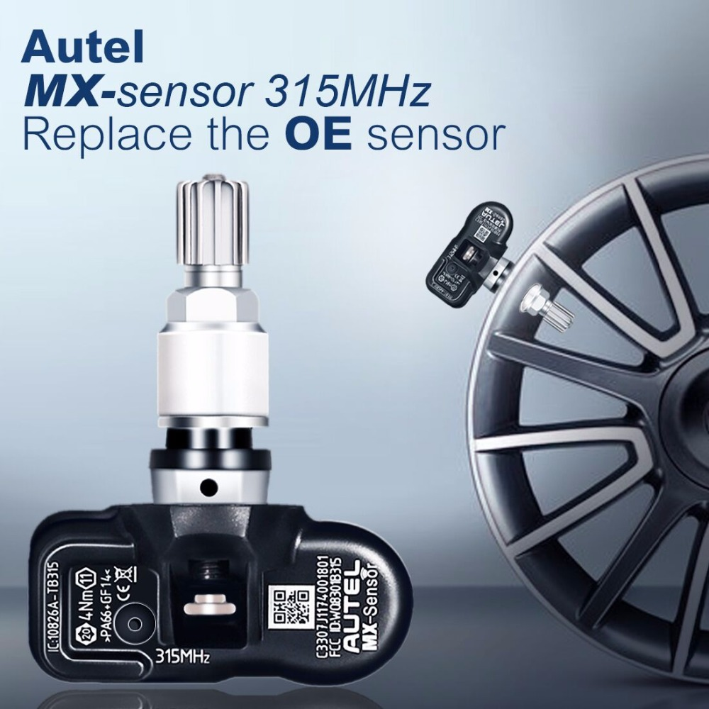 Image 2 - Autel 4PCS 433/315MHZ TPMS Sensor Diagnostic Tool MX Sensor TPMS Supports Tire Pressure Programming for OBD2 Scannar-in Pressure & Vacuum Testers from Automobiles & Motorcycles on