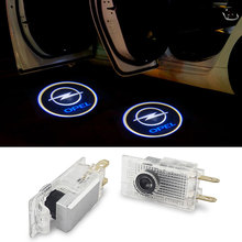 цена на 2Pcs LED Car Door Welcome Logo Projector Laser Light For Opel Insignia 2009 2010 2011 2014 2018 2013 2015 2016 2017 Accessories