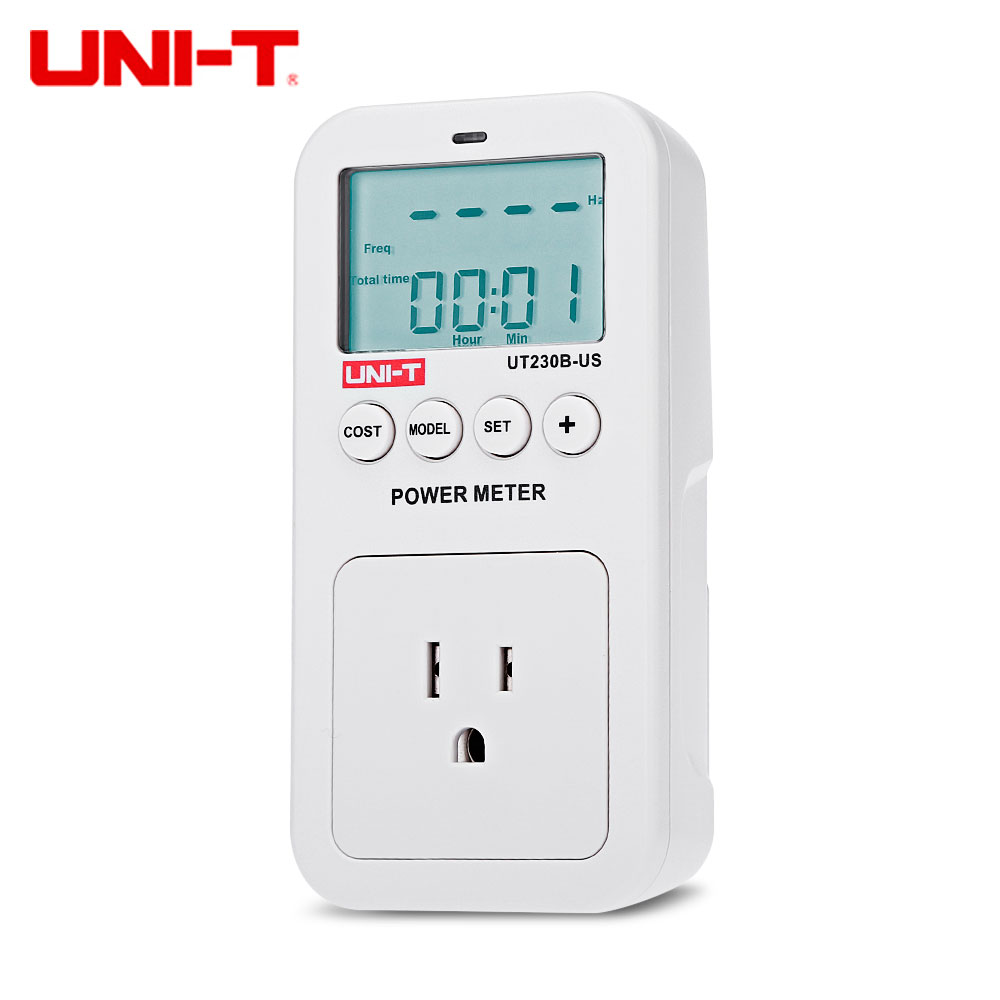 UNI - T UT230B - US Electricity Usage Monitor Power Meter US Plug with LCD Display power meter power consumption monitor us plug