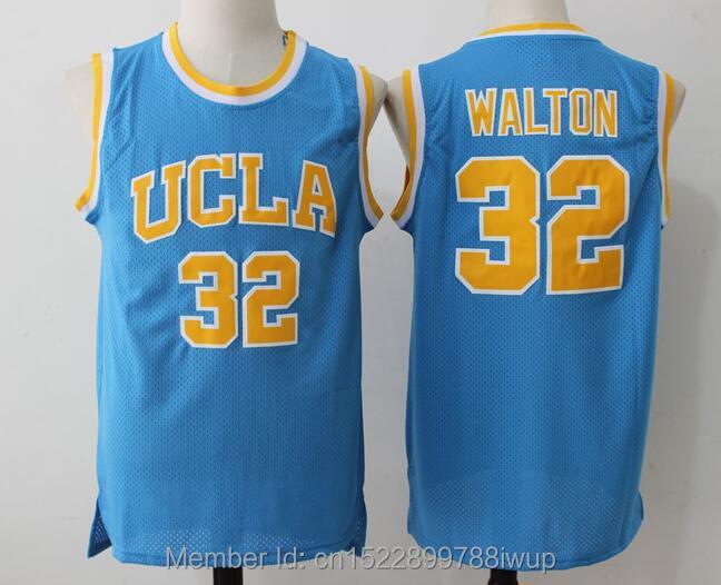Dwayne Bill Walton Jerseys #32 UCLA College Basketball Jersey Blue Vintage Stitched Mens Cheap Basketball Throwback Shirts