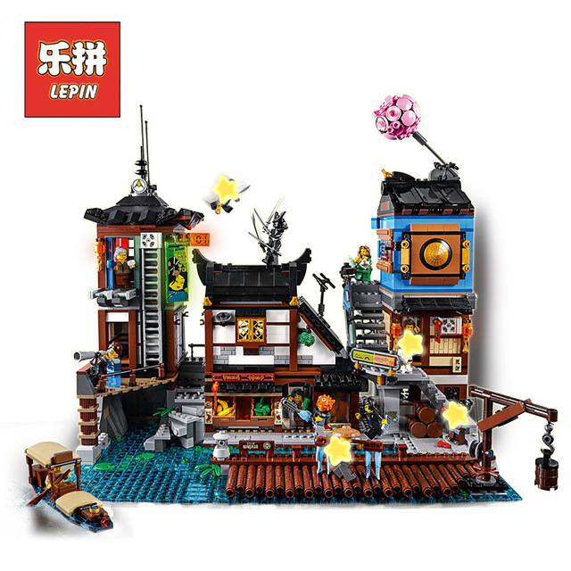 Lepin 06083 The City Docks Set 3979Pcs Building Series 70657 Buidling Blocks Bricks Assemblage Toys Collectable Kids Gift Model lepin 02020 965pcs city series the new police station set children educational building blocks bricks toys model for gift 60141