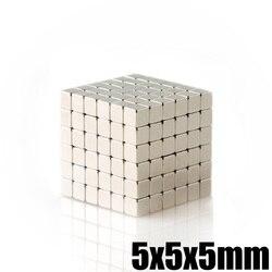 50 piezas 5x5x5mm de neodimio de imán cubo 5mm N35 NdFeB permanente Super fuerte magnéticos imanes cuadrados Buck cubo