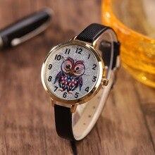 Sloggi новый бренд Роскошные женские кварцевые часы Дети Красочный мультфильм Сова циферблат Женская кожаная обувь часы женские Relogio feminino часы