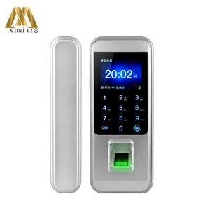 Image 1 - Yeni varış biyometrik parmak izi kapı kilidi tuş takımı ile XM 300 ev ofis için anahtarsız kapı kilidi anti hırsızlık