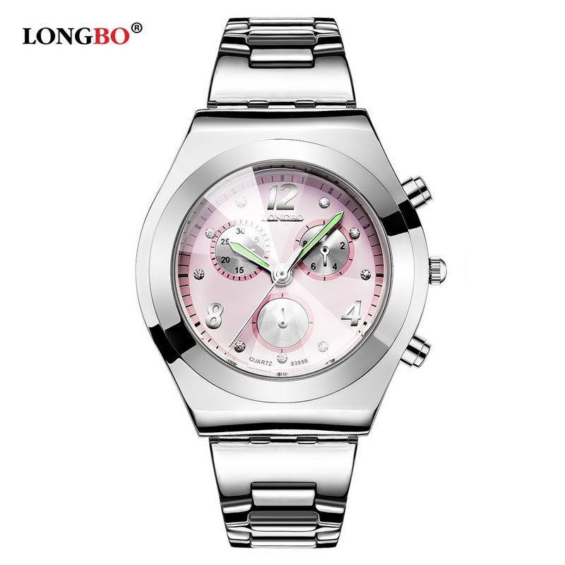 LONGBO Luxury Quartz Watches Luminous Analog Women Diamond Bracelet Watch Ladies Casual Waterproof Wristwatches 8399 moda mujer free shipping kezzi women s ladies watch k840 quartz analog ceramic dress wristwatches gifts bracelet casual waterproof relogio