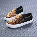 Leopard Lazy Casual Shoes Korean Thick Soled Canvas Shoes Women Students Slip-On Loafer Fashion Zapatos Mujer X072