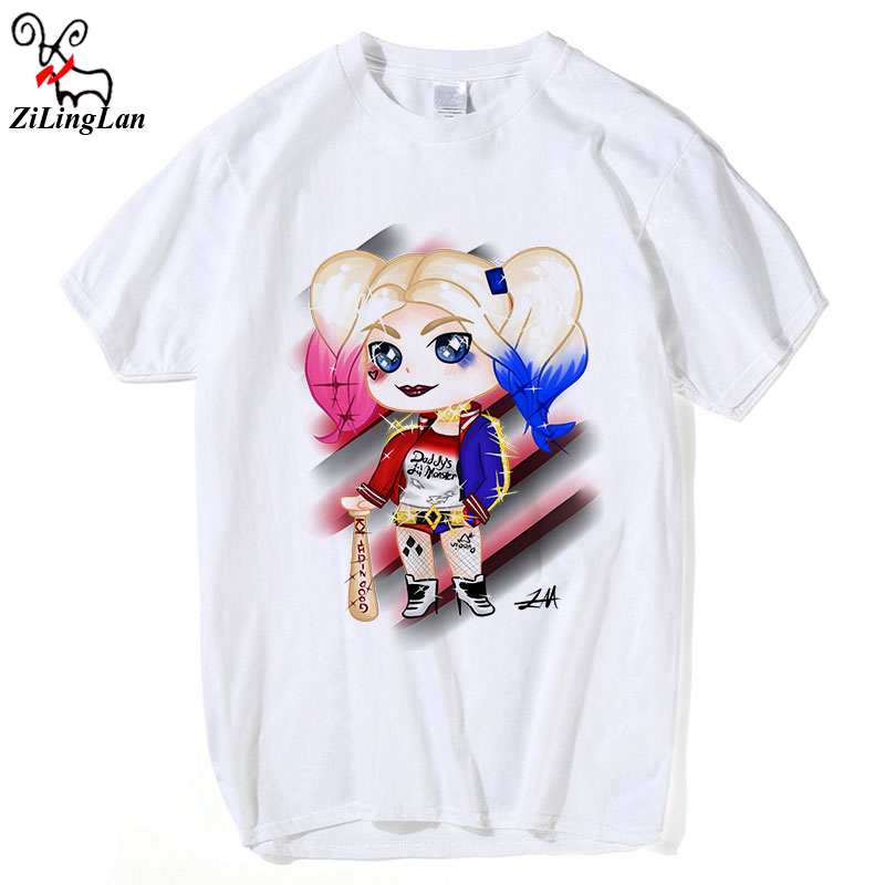 ZiLingLan 2018 Children Print Suicide Squad Harley Quinn Joker Kids T-shirt O-Neck Short Sleeve COOL Boy/Girl Casual tee tops