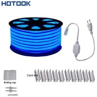 220 V/110 V LED Neon Ánh Sáng SMD2835 20 m 50 m 92LED/m Màu Xanh Lá Cây Đỏ Trắng xanh LED Dây Linh Hoạt Neon strip