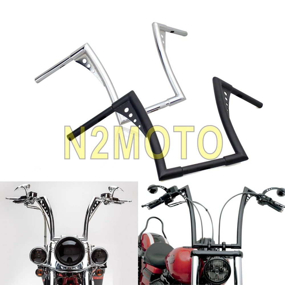 "Buy Chrome APE Hanger Handlebar 12"" Rise 8"" Backward 30-1/2"" Wide Tapered Handle Bar for Harley Chopper Cafe Racer Sportster Touring for only 55.04 USD"