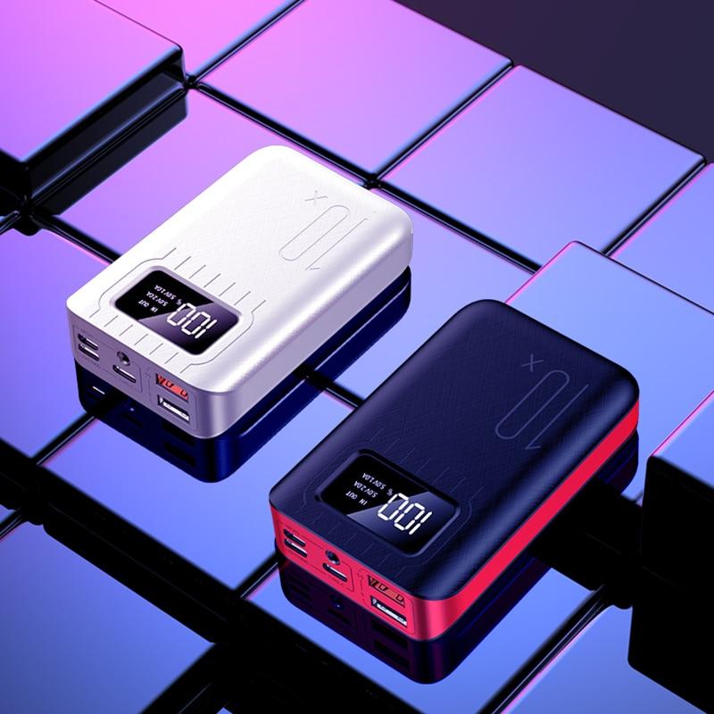 Mini Power Bank Waterproof Portable 10000 MAh for All Xiaomi Smart Phone Battery Powerbank Fast Charging External Battery  LED sticker