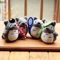 2016 1 unids 10 cm Chinchillas Miyazaki Cuatro Deportes Colgantes Cortos Peluches 50 Peso Mini Muñeca Colgante Hermoso