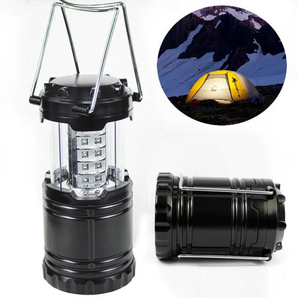 2PC set LED Portable Collapsible LED Outdoor Camping Lantern Flashlights For Hiking Camping Emergencies Hurricanes Outages