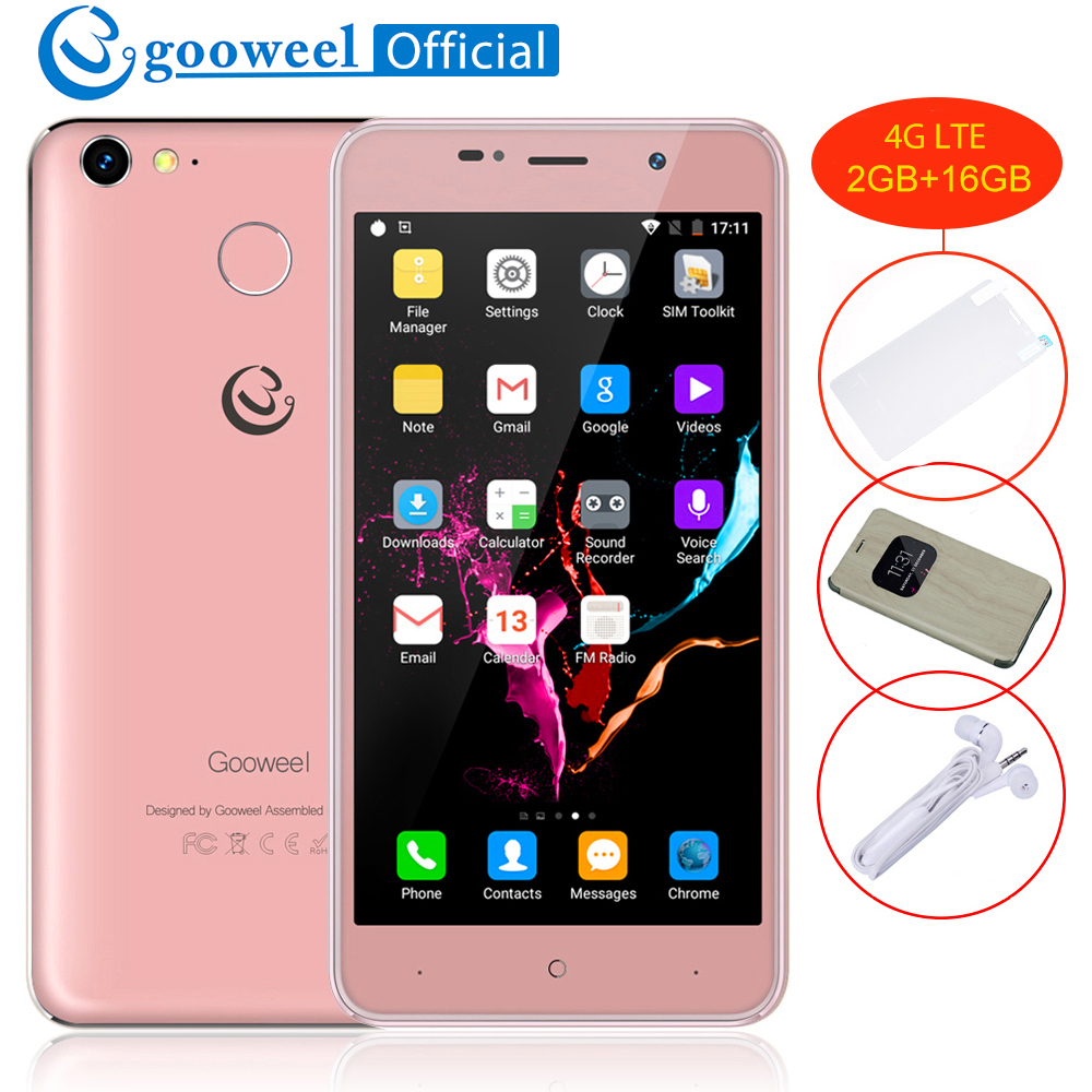 Gooweel M15 4G Smartphone MTK6737 Quad core 5,0 inch HD Bildschirm handy 2 GB + 16 GB Android6.0 8MP Fingerprint GPS handy