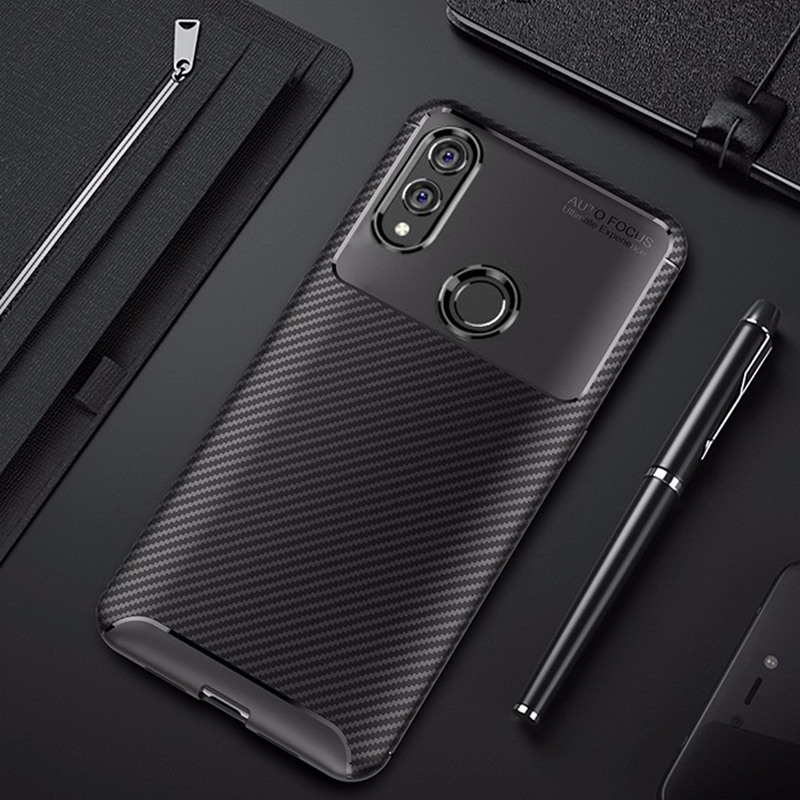 For Honor 10 Lite Case Carbon Fiber Cover 360 Shockproof Silicon Phone Case On For Huawei P Smart 2019/Honor10 Lite Cover Bumper