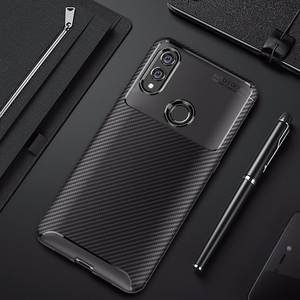 Image 1 - For Honor 10 lite Case Carbon Fiber Cover 360 Shockproof Silicon Phone Case on for Huawei P Smart 2019/Honor10 Lite Cover Bumper