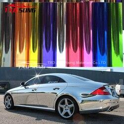Cromo flexível! Prata chrome espelho vinil carro envoltório adesivo com importação cola e filme stretchable chrome espelho vinil adesivo