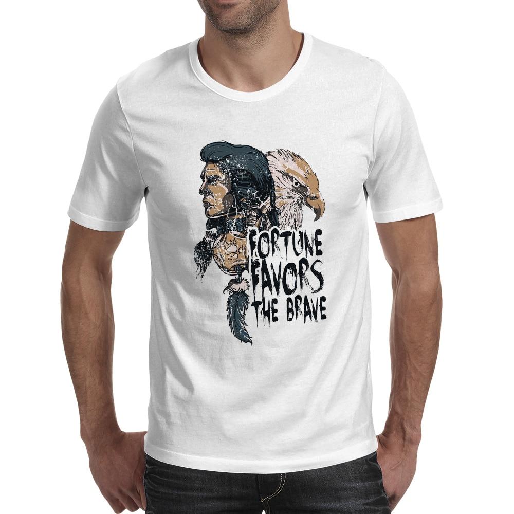 Fortune Favors The Brave T-shirt Creative Print Cool Fashion Short Sleeve T Shirt Style Hip Hop Design Women Men Top