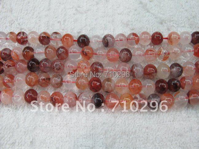 5 прядей/лот натуральный красный железный кварц 6 мм круглый камень свободные бусины 40 см/прядь
