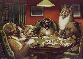 Modern Canvas Wall Picture Oil Painting A Waterloo Dogs Playing Poker by C.M.Coolidge Home Decoration Art Hand Made High Quality