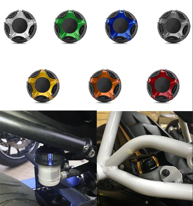 Rear Brake Oil Reservoir Fluid Tank Cover Cap for Ducati Hyperstrada Monster Orange Titanium Green Blue Red Gold Silver in Covers Ornamental Mouldings from Automobiles Motorcycles
