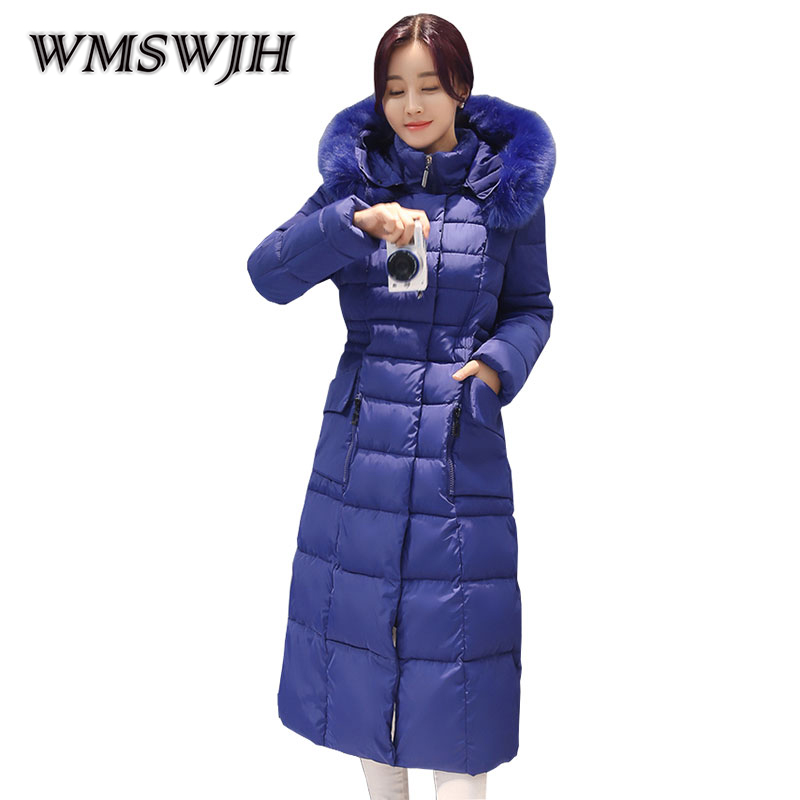 Ukraine Hot Sale Real Full Zipper Winter Jacket Women 2017 Coat Long Parka Cotton-padded Coats Wadded Jackets Plus Size 4XL women thicken warm winter coat hood parka plus size 5xl on sale red cotton padded jacket female ukraine fashion outwear autumn