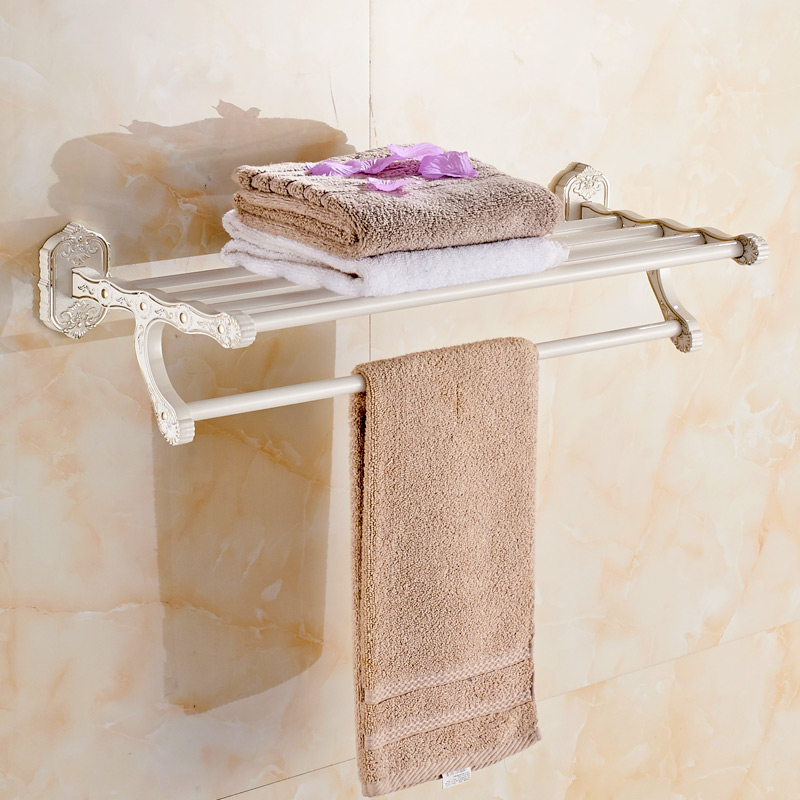Carved Ivory White Towel rRack European Bathroom Towel Rack Single Bar Towel Rack Suit Bathroom Accessories 7205 the ivory white european super suction wall mounted gate unique smoke door