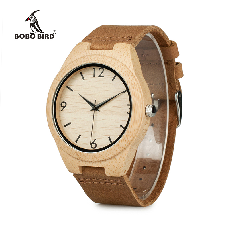 BOBO BIRD A31 Leather Wood Watches Men Quartz Analog Watches Casual Cool Watch Men Watches 2016 promise a sfu9051 bobo