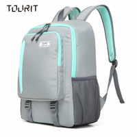 TOURIT Cooler Backpack 28 Cans Cooler Backpack Day Trip Collection Grey Black Blue Red