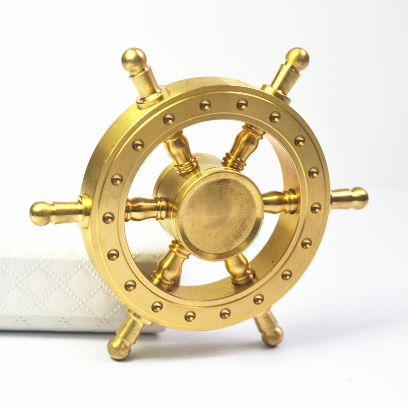Old Captain Fidget Spinner Hand Spiner Metal Brass Finger Spinning Anti Stress Hand Spinner For Autism ADHD KidsToys Gift
