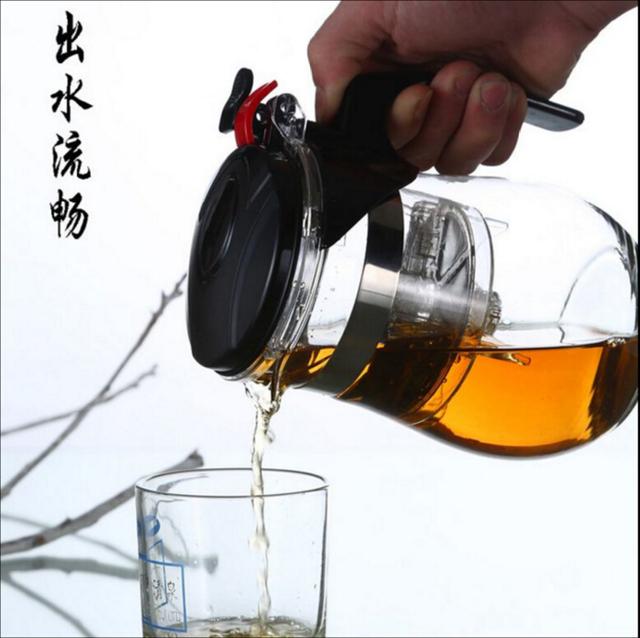 Hot sale 500ml Style  Heat Resistant Glass Tea Pot Flower Tea Set Puer kettle Coffee Teapot Convenient Office Tease