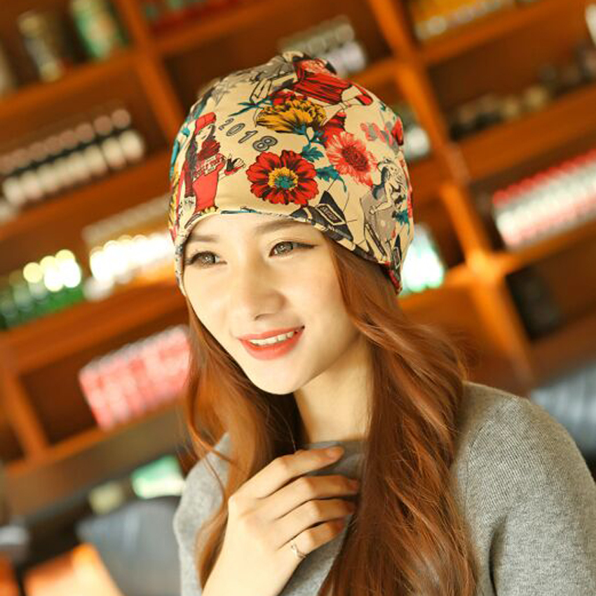 1 Pcs 2015 Letter 2018 Beauty Hat For Women Knitted Cap Autumn Winter Warm Skullies Beanies Empty Hat Scarf Two Use 3 Colors