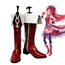 font b Anime b font Puella Magi Madoka Magica Sakura Kyoko Red Boots font b