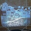 China histórico cultural Cidade Phoenix forma 3D lâmpada, colorido Gradiente férias deco 3d ilusão lâmpada conduziu a lâmpada de mesa para quarto