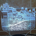 China histórico cultural de la Ciudad de Phoenix forma 3D, lámpara de Gradiente de colores de vacaciones deco 3d ilusión lámpara led lámpara de mesa para dormitorio