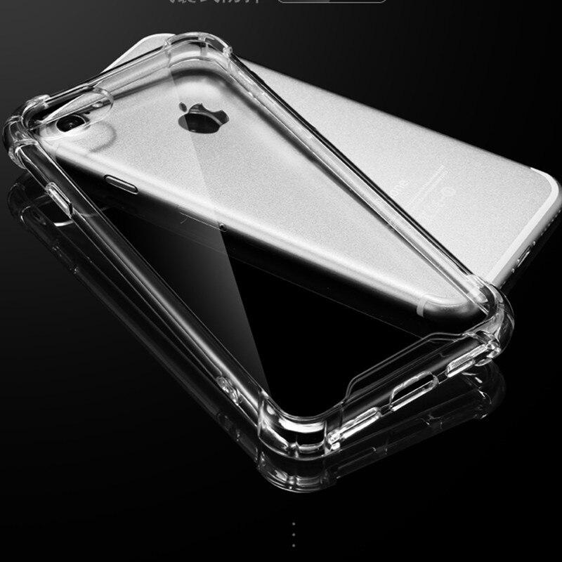 e4f16d4a326 Para Apple iphone 7 6 6 S Plus Carcasa protectora acrílica anticaídas a  prueba de golpes para iphone 7 transparente duro funda trasera de PC