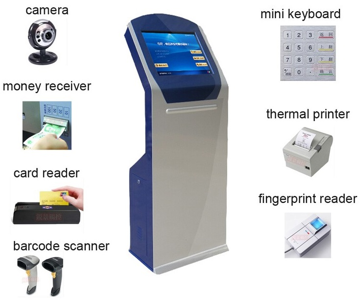 Custom Children's 17 32 42 Inch LCD Wifi IR Touch Terminal Signage Inductive Card Biometric Time Attendance Recording